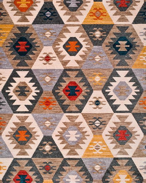 Alfombra Étnica con motivos geométricos Abiyan 80098 21 Multi