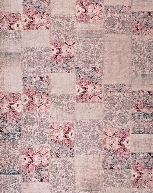 Alfombra Patchwork con toques Florales Alice 2116 14 Gris