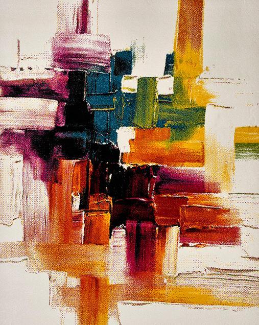 Alfombra de Arte Abstracto Belis 20752 21 Multi