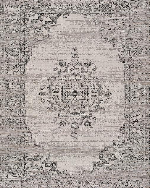 Alfombra Geométrica Indoor-Outdoor Biorn 459 14 Gris