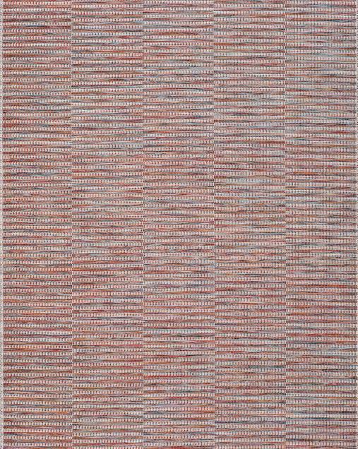 Alfombra Étnica con motivos geométricos Bliss 9855 10 Rojo