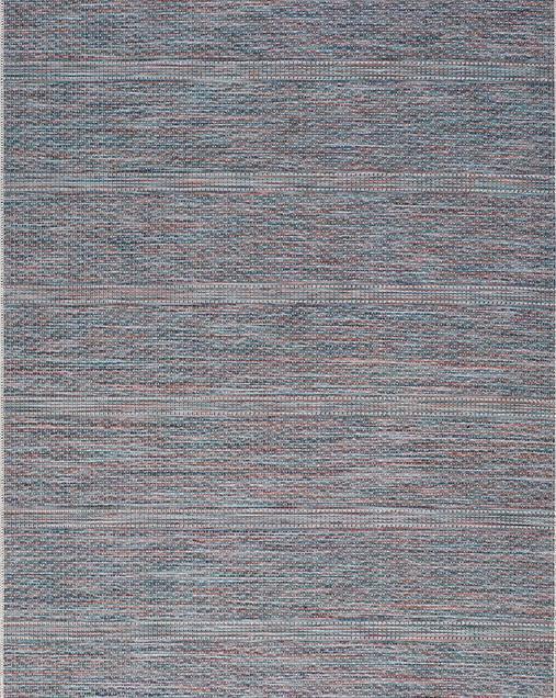 Alfombra Étnica con motivos geométricos Bliss 9858 07 Azul