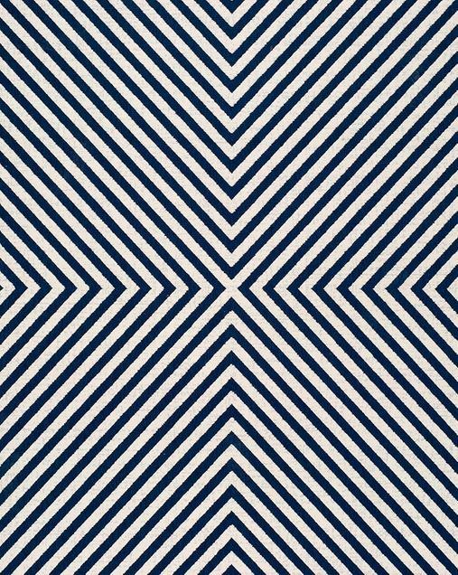 Alfombra Geométrica con Estilo Nóridico Cannes 42113 07 Azul