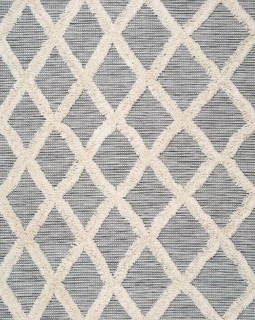 Alfombra Étnica con motivos geométricos Cheroky 9058 04 Blanco