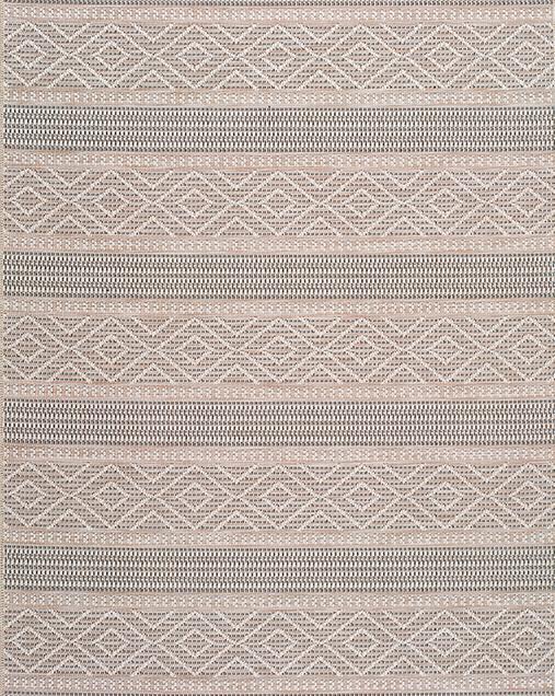 Alfombra Étnica con motivos geométricos Cork 9681 02 Beig