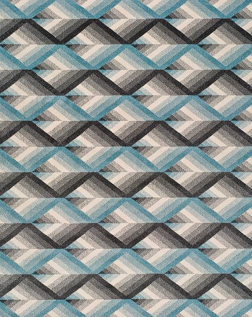 Alfombra Geométrica Delta 12169 07 Azul
