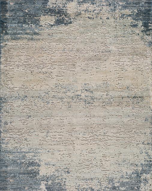 Alfombra Vintage con toques de Arte Abstracto Farashe 889 07 Azul