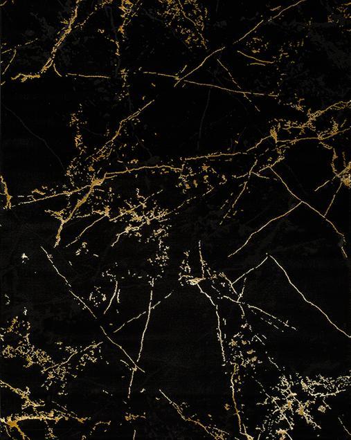 Alfombra de Arte Abstracto Gold 23438 08 Negro