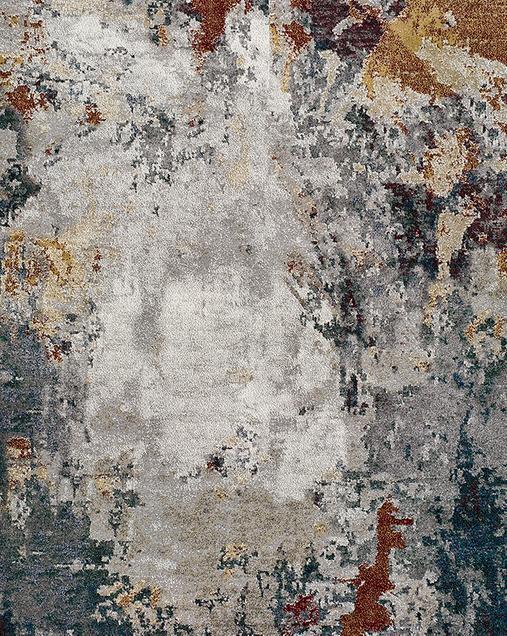 Alfombra Abstracta de estilo Vintage Graffiti 40001 21 Multi