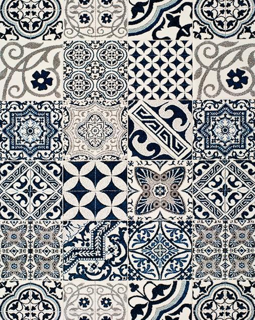 Alfombra Hidráulica Indigo 22141 07 Azul