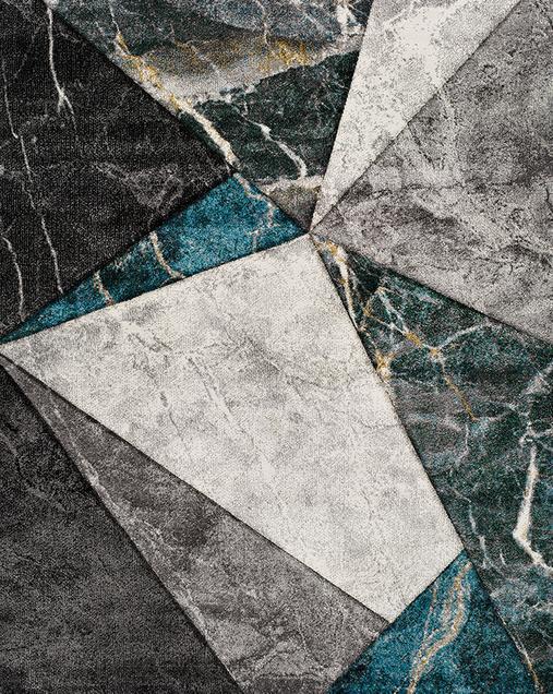 Alfombra Geométrica de estilo Vintage Istambul 24345 07 Azul