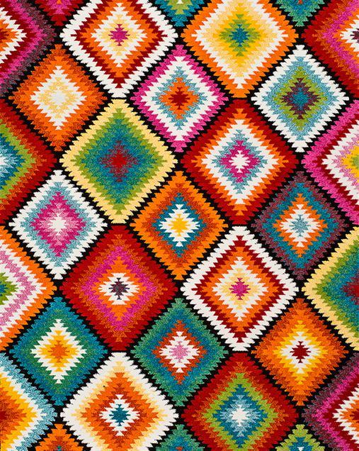 Alfombra Étnica con motivos geométricos Koby 22865 21 Multi