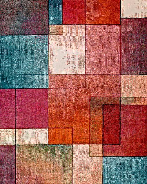 Alfombra Geométrica Lucy 25015 21 Multi