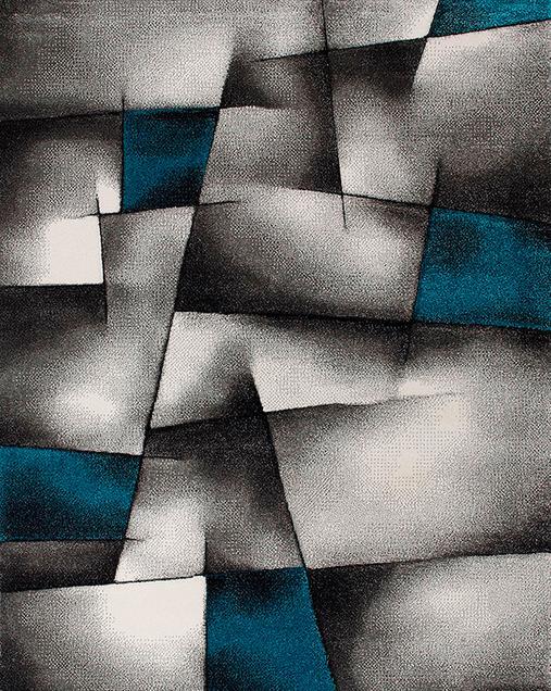 Alfombra Geométrica Malmo 21817 07 Azul