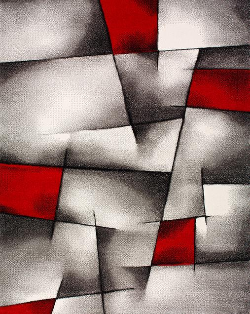 Alfombra Geométrica Malmo 21817 10 Rojo