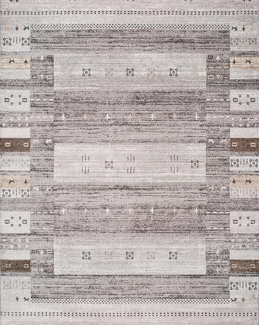 Alfombra Étnica de estilo Vintage Meghan 20620 14 Gris