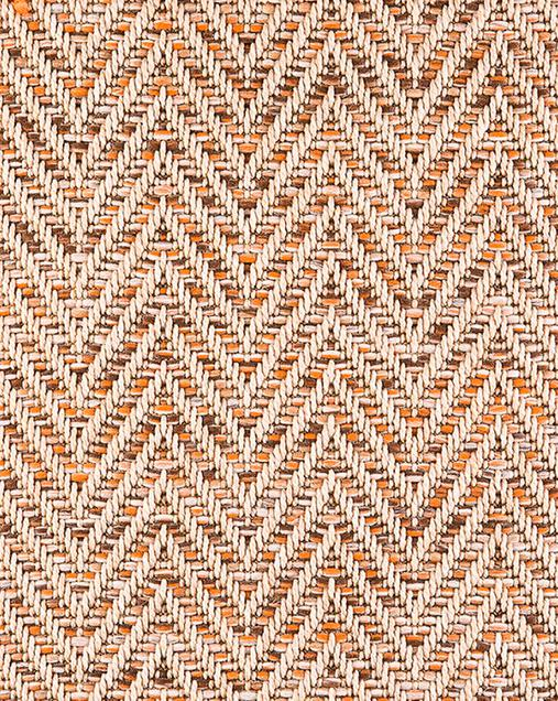 Alfombra Hidráulica con motivo étnicos Natura 4027 013 Beig-Naranja