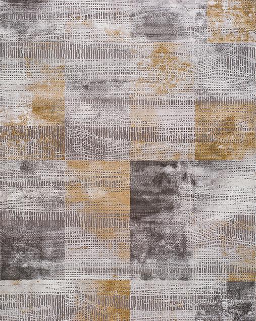 Alfombra Vintage con toques de Arte Abstracto Norah 23302 14 Gris