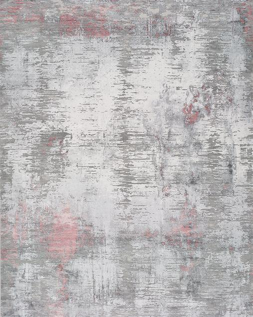 Alfombra de Arte Abstracto Riad 23611 19 Plata