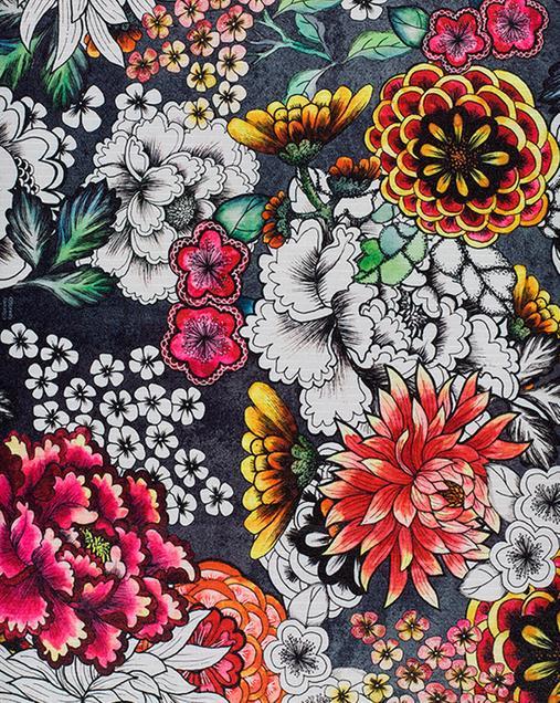 Alfombra con motivos Florales Ricci Colorful 00