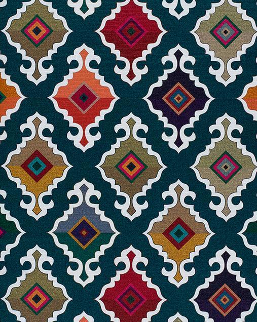 Alfombra Étnica con motivos geométricos Ricci Indonesia 00