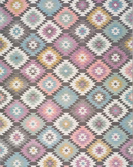 Alfombra Étnica con motivos geométricos Samy 22862 21 Multi