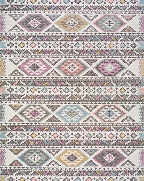 Alfombra Étnica con motivos geométricos Samy 22874 21 Multi