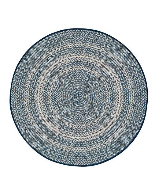 Alfombra Étnica con motivos geométricos Silvana 48837 469 Azul