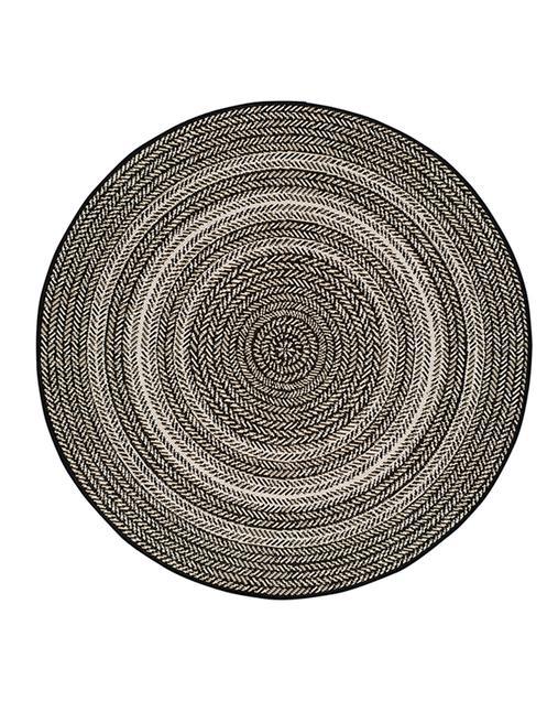 Alfombra Étnica con motivos geométricos Silvana 48837 690 Negro