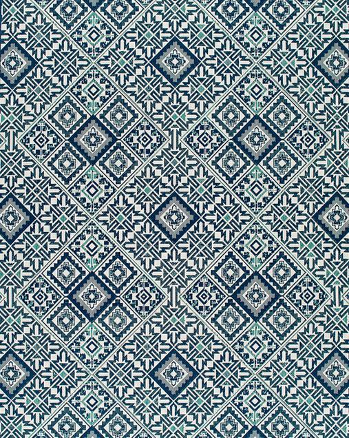 Alfombra Hidráulica Slate 19247 Azul