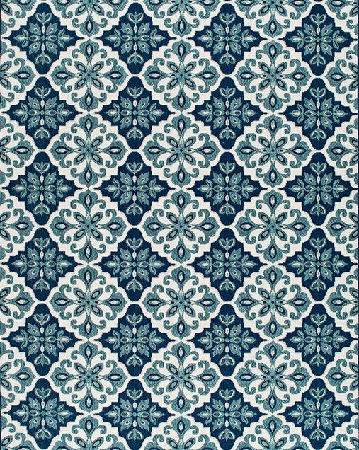 Alfombra Hidráulica Slate 19248 Azul