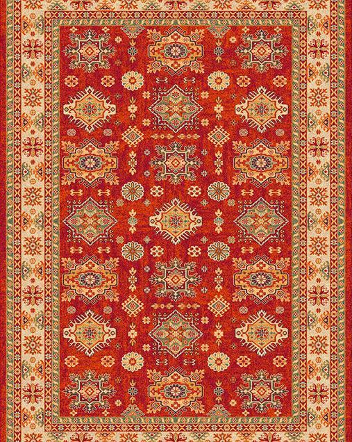 Alfombra Tradicional Terra 152 10 Rojo