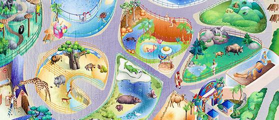 Alfombras del zoo