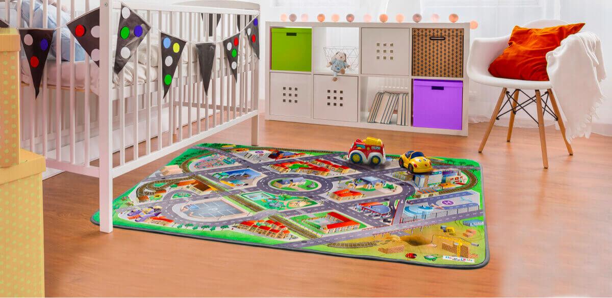 Alfombras infantiles para jugar que encantarán a los niños
